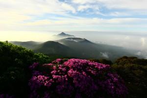 雄大な霧島連山