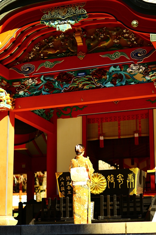 和服で参拝、ぶらり霧島神宮。「行ってしまOH!鹿児島」で放送されます。