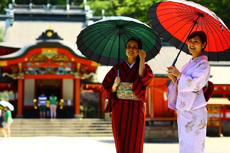 和服で参拝、ぶらり霧島神宮。facebookで紹介頂きました。