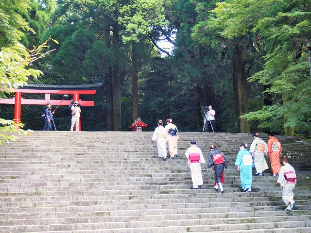 和服で参拝、ぶらり霧島神宮。モニターツアーを実施しました☆