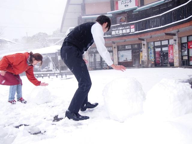雪が積もりました?