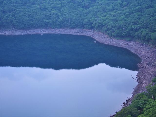 夕暮れの大浪池