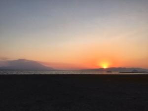 霧島の海と夕暮れ