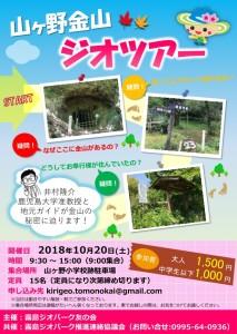 山ヶ野金山ジオツアーが開催されます(10/20)