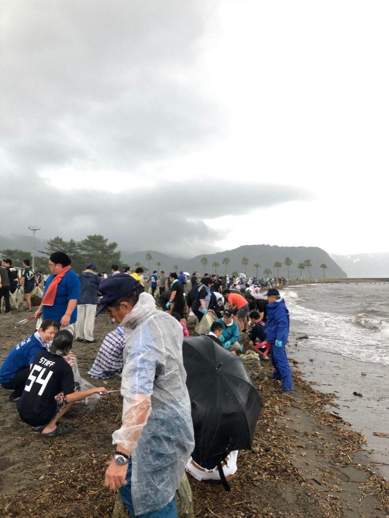 錦江湾クリーンアップ作戦!