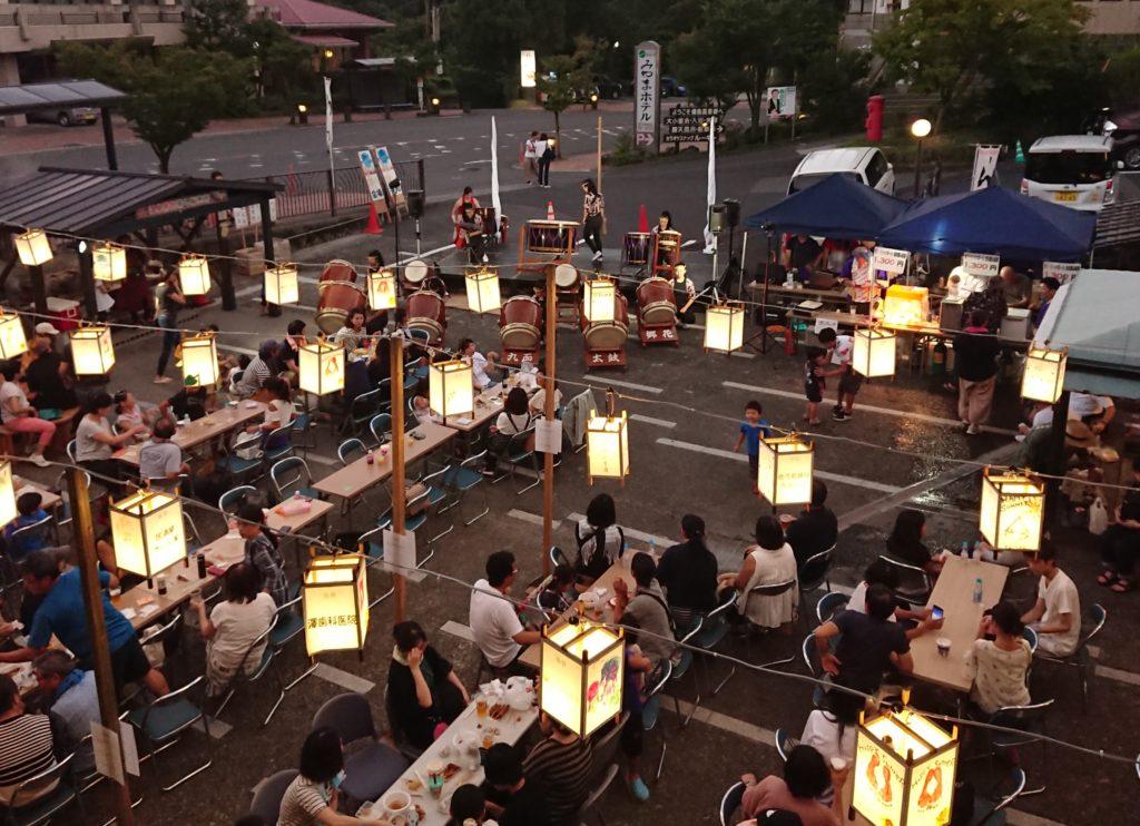 ゆけむりビアガーデン in 丸尾2019 2nd week last night