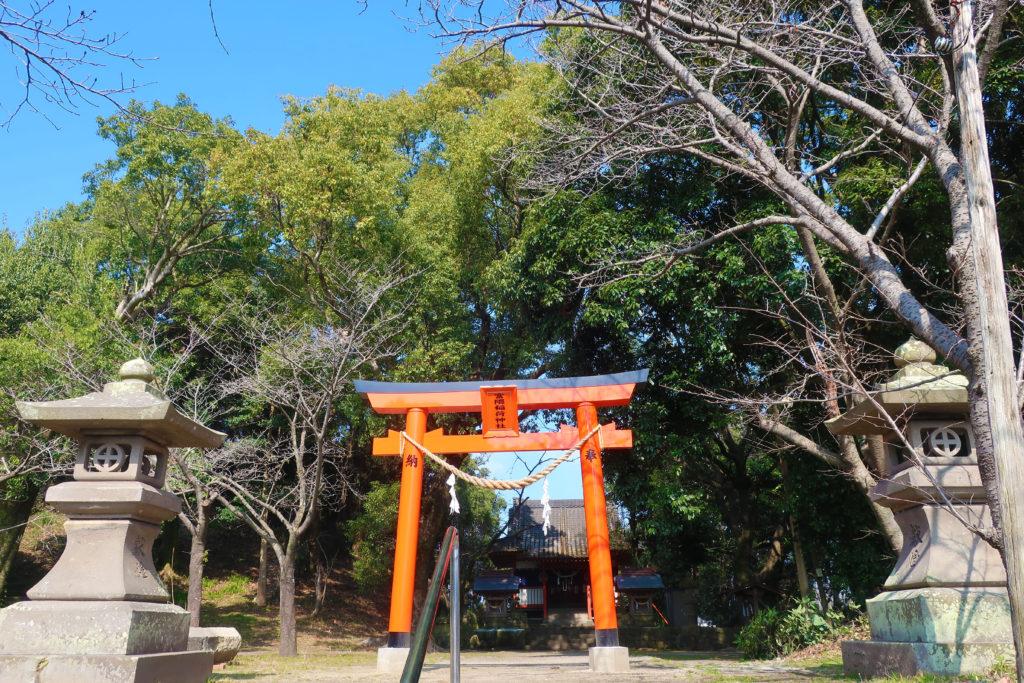 富隈城跡へ