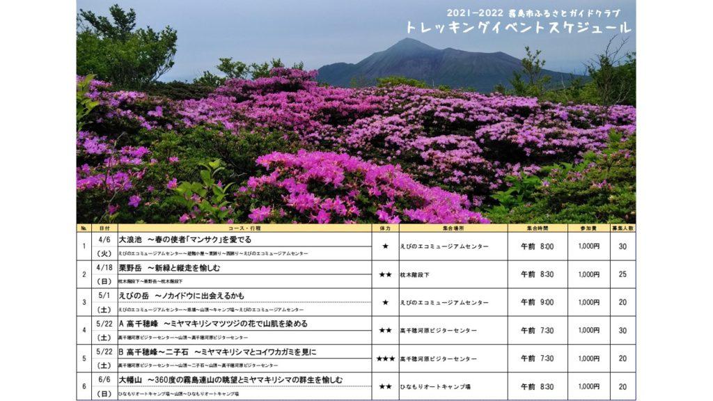 霧島市ふるさとガイドクラブトレッキングイベント2021-2022