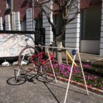 霧島温泉市場のバイクスタンドが新しくなります。