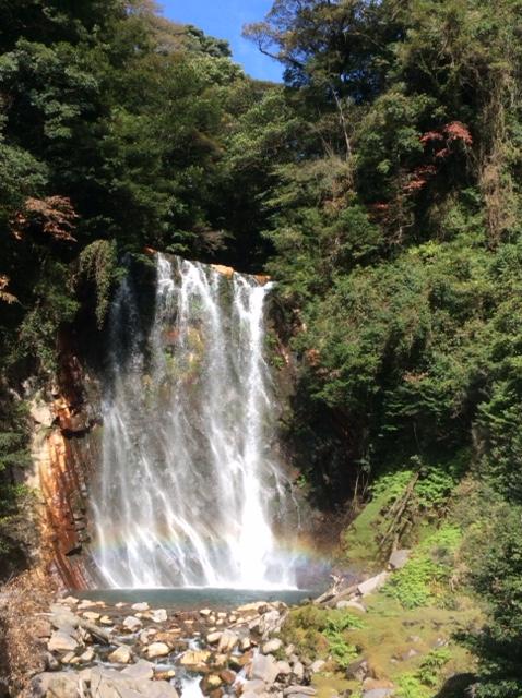 丸尾滝と虹