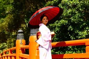 和服で参拝、ぶらり霧島神宮。取材に同行させて頂きました