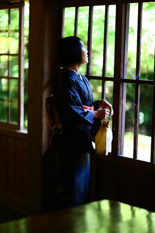 和服で参拝、ぶらり霧島神宮。取材(10月28日)