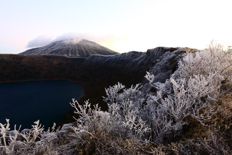 厳冬の霧島