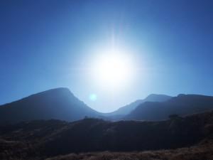初冬の韓国岳