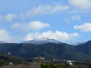 霧島連山に初冠雪!!