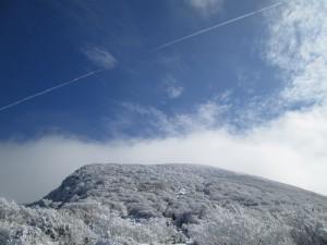 冬の韓国岳へ