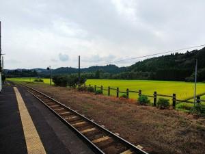 霧島温泉駅から🌾