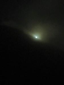 満月の夜の高千穂峰