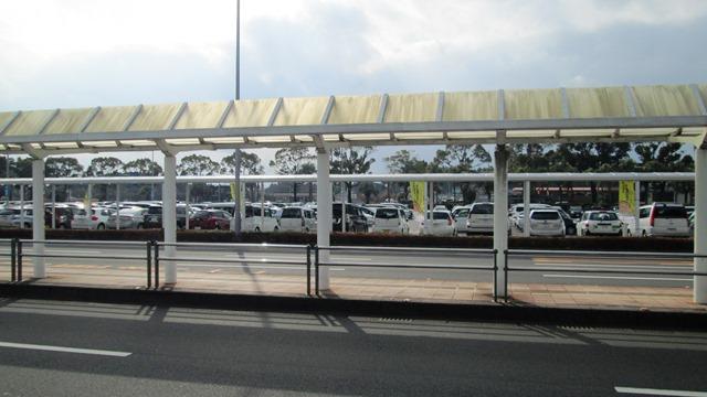 鹿児島空港駐車場付近に…