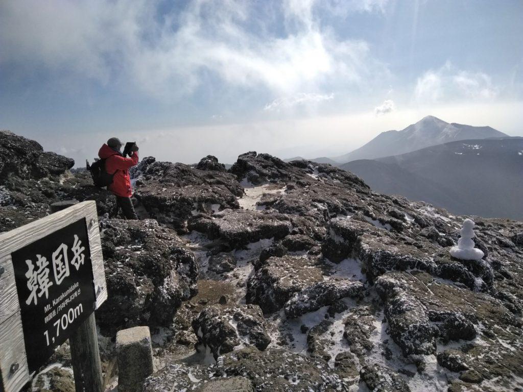 樹氷の韓国岳